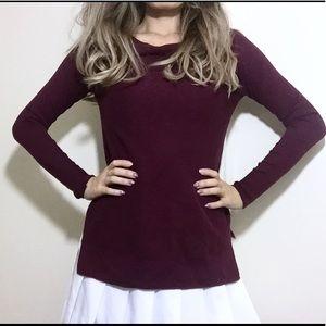 AEO Maroon light knit sweater